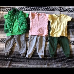 2t fall/winter 3 outfit lot